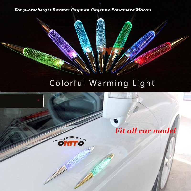 Warning light Colorful car LED lights Solar burst flash shark anti collision Lamp door for 911 Boxster Cayman Cayenne Panamera цена и фото
