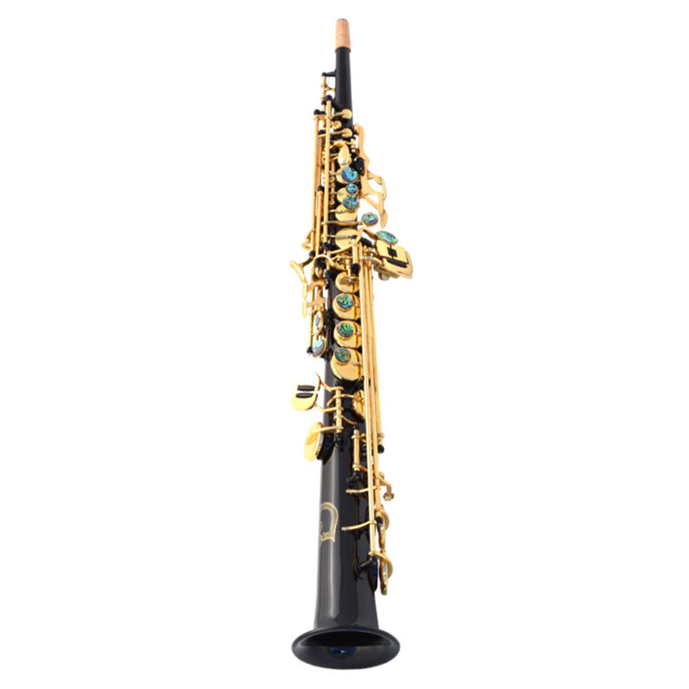 Saxofon B-plat saxophone soprano Sax Noir nickel or instruments de musique Top Qualité Cadeau à jouer professionnellement SAX05