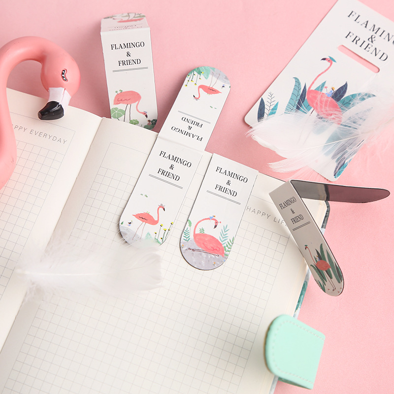 Creative Flamingo Magnetic Bookmarks Books Marker Of Page Student Stationery School Office Supply Gift Stationery