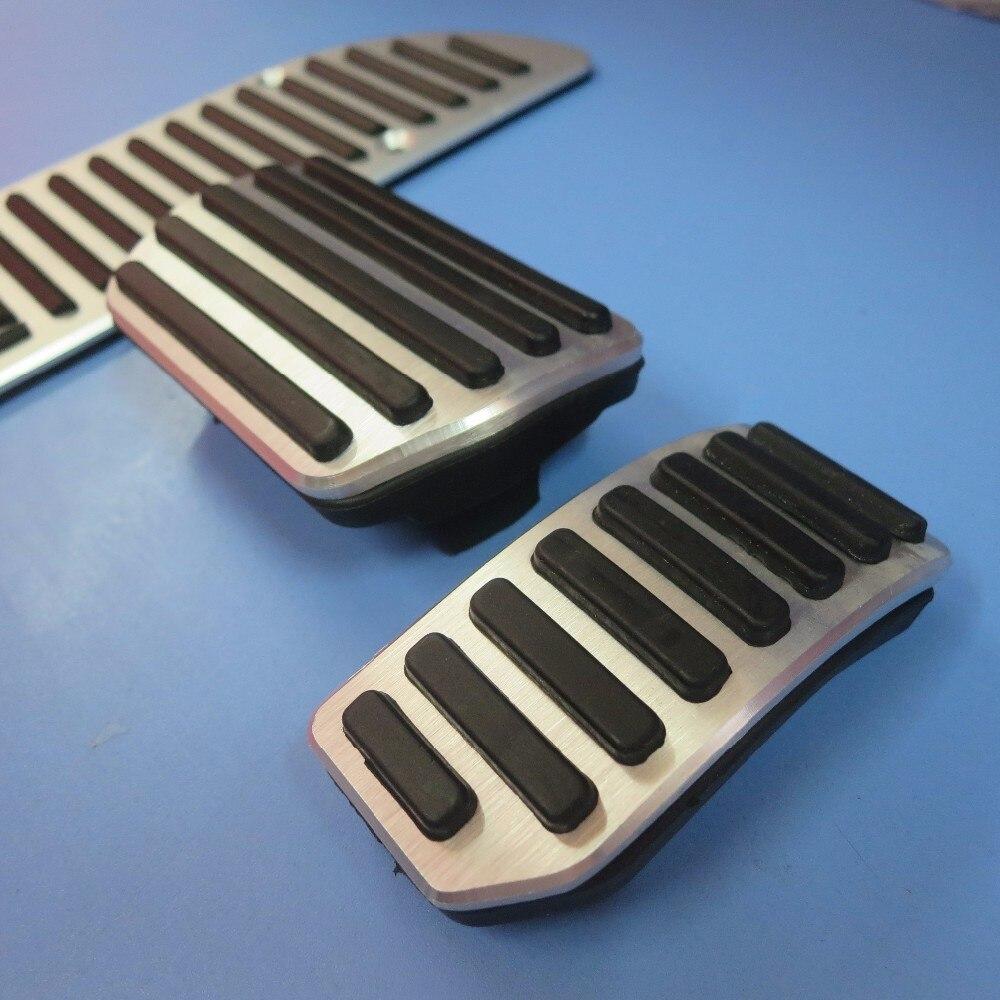 DEE автомобильные аксессуары из алюминиевого сплава педаль акселератора газа тормоза для VOLVO S60 S80L XC60 S60L V60 V70 на педали пластины колодки Чехлы