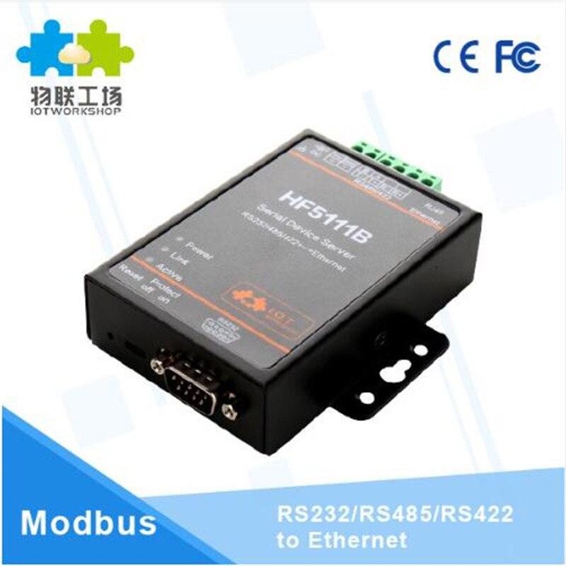1 pcs/pack officiel 5111B RJ45 RS232/485/422 série à Ethernet libre RTOS série 1 Port serveur convertisseur dispositif industriel