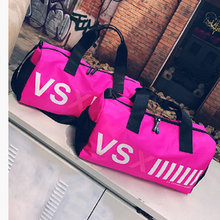 2017 Hot Sales Women New Arrival Nylon Big Capacity Sports Bag Gym Bags Fitness Outdoor Bag Pink Beach Swimming Bags For Female