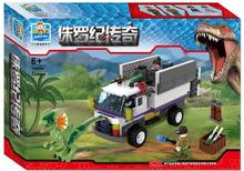 Jurassic World Arrest Dilophosaurus Building Blocks Dinosaur Minifigures Bricks For Children Gift Kids Toys