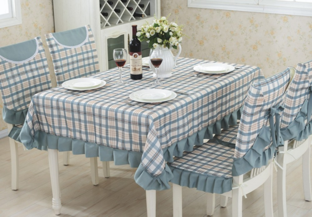AliExpress & US $11.87 5% OFF|Beige blue fabric Table Cloth Plaid Print Rectangle Table Cover square Tablecloth Home Kitchen Decor seat back chair cover B42-in ...