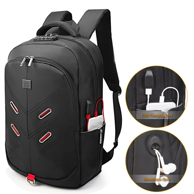 DTBG Backpacks 17.3 Inch Anti-theft Laptop Backpack Waterproof Travel Bag College Men Women Casual Daypacks & USB Charging Port рюкзаки zipit рюкзак shell backpacks