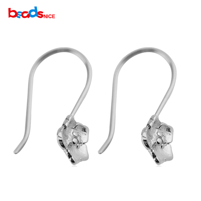 Beadsnice Id25424 925 Sterling Silver Hooks Earring Wires With Flower End Of Jewelry Accessories