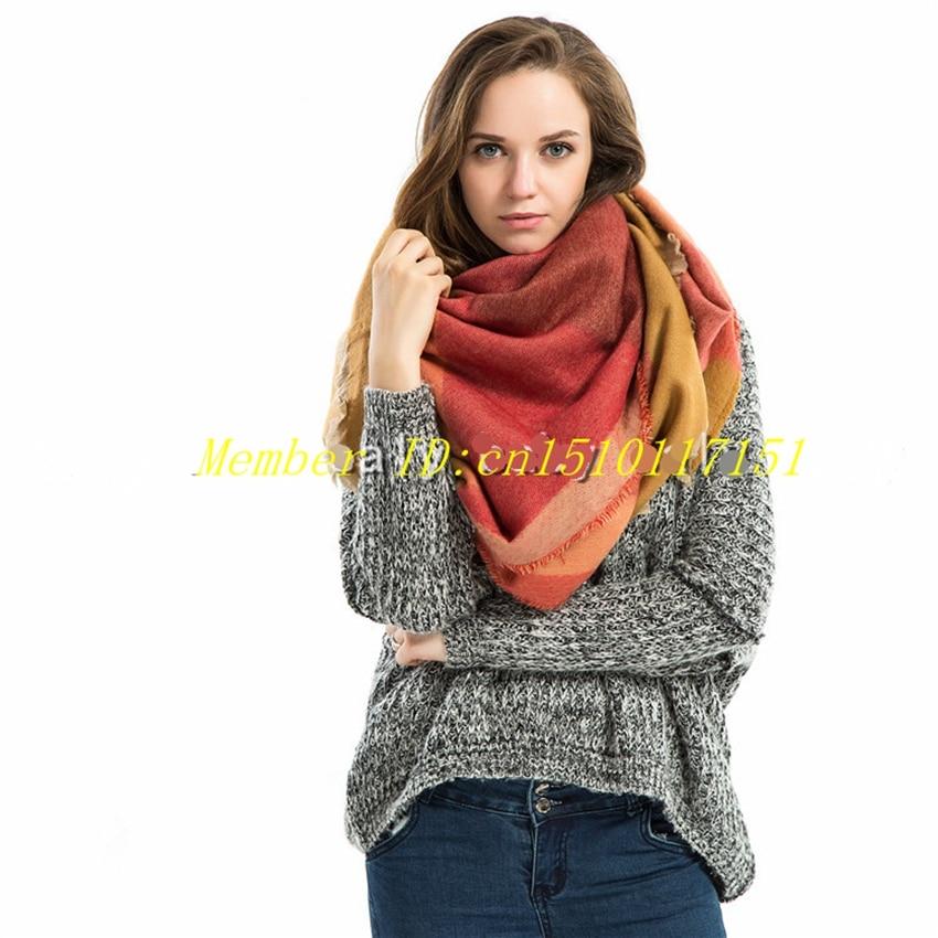 Oversized Fashion Women New font b Tartan b font Plaid Blanket Scarf