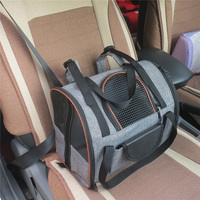 Breathable Car Seat Dog Backpack Outdoor Travel Mesh Waterproof Foldable Carrier Bag Cat Puppy House Pet SuppliesDog Accessories