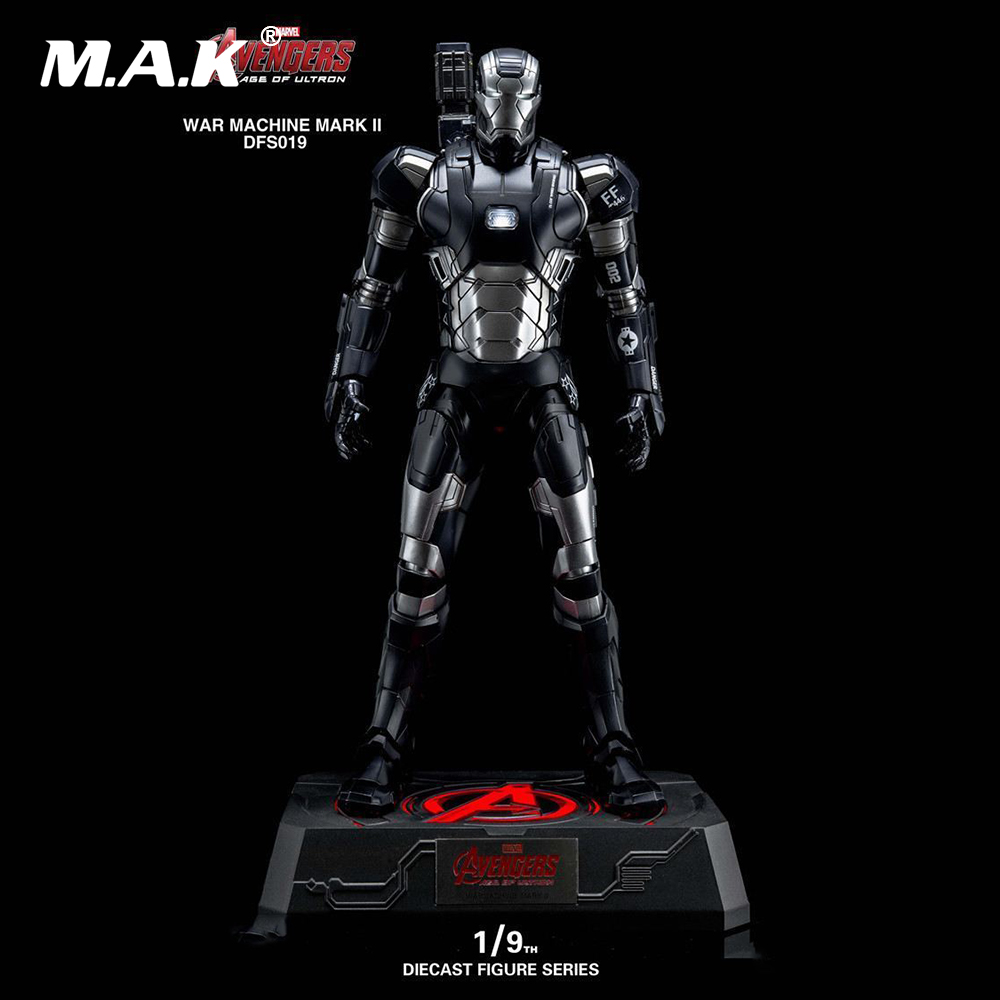 DFS019 1/9 Alloy Diecast Remove Figure Series The Avengers War Machine Mark II Diecast Action Figure Model for Collection