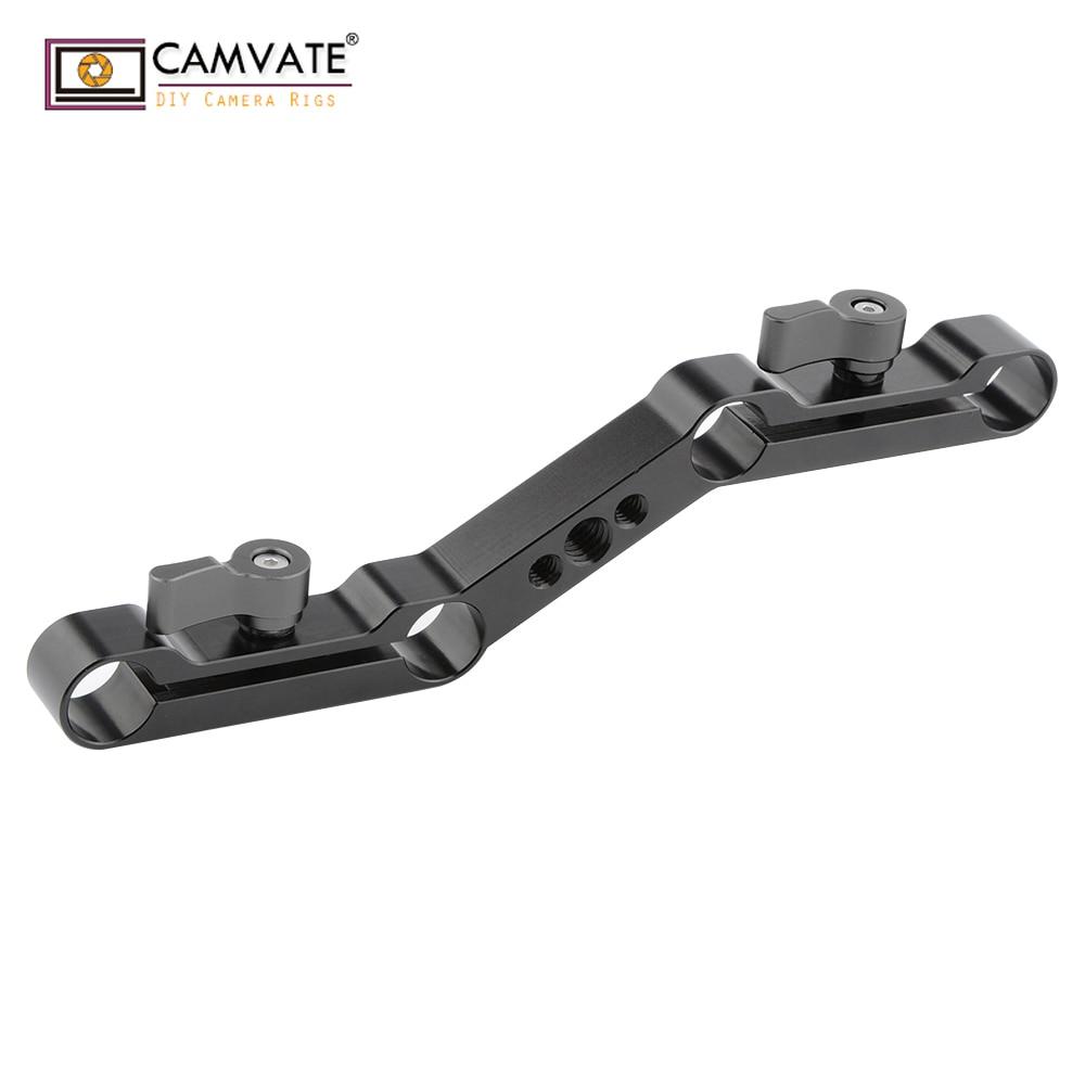 DSLR Z-form Offset Braket Clamp Mount Block Rig Raiser Film Kit für 15mm Rod Z-Form clamp Moun kamera fotografie zubehör