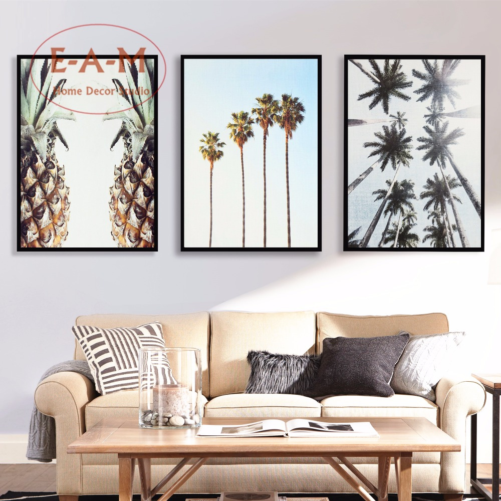 Nordic Tropical Trees Pineapple Canvas Art Print Painting Poster Wall Pictures For Kids Room Decor Home Decorative No Frame in Painting Calligraphy from Home Garden