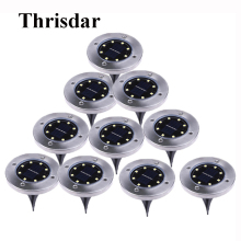 Thrisdar 10 шт. на солнечных батареях наземный светильник 8 светодиодный открытый сад пейзаж тропинка Солнечный погребенный напольный светильник подземные лампы