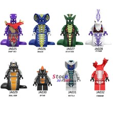 Single Model Building Blocks Series Snake Acidicus Skales Rattla Bytar Pythor With Toys for children(China)