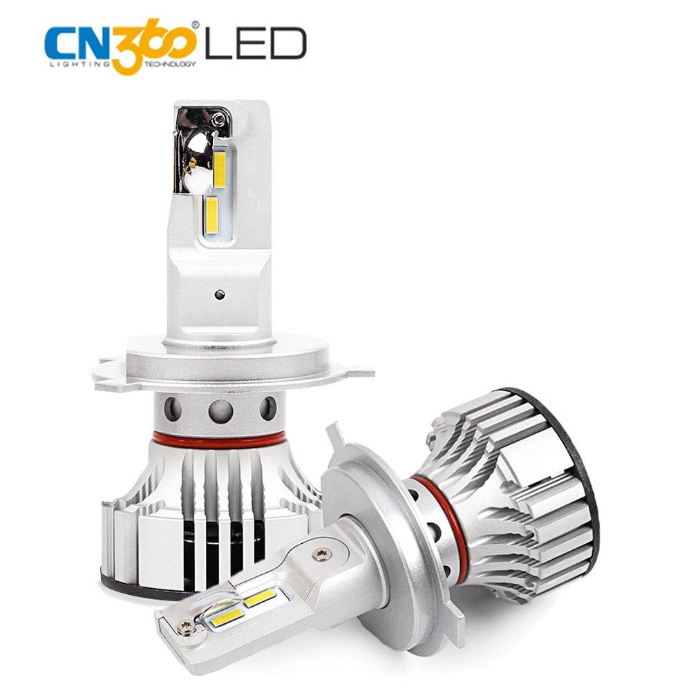 CN360 2PCS Led Auto Bulbs H4 HB2 9003 Car Lamp Super Bright 12000LM LED Bulb Lamp