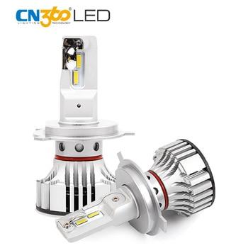 CN360 2PCS Led Auto Bulbs H4 HB2 9003 Car Lamp Super Bright 12000LM LED Bulb Lamp High Low Beam 72W 12V Led Headlight 6500k