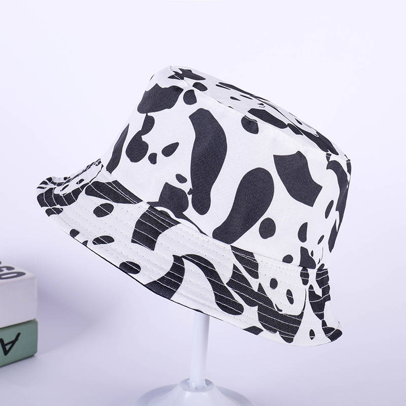 2019 Cow print Bucket Hat Fisherman Hat outdoor travel hat Sun Cap Hats for Men and Women 245