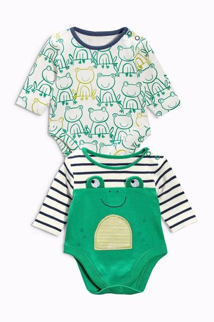 Macacão de bebê Das Meninas Dos Meninos da Menina Traje 0-24 M Roupas Quentes Do Bebê Do Miúdo Recém-nascidos Jumpsuit 2 PCS da Roupa Do Bebê Desgaste Romper Corpo terno