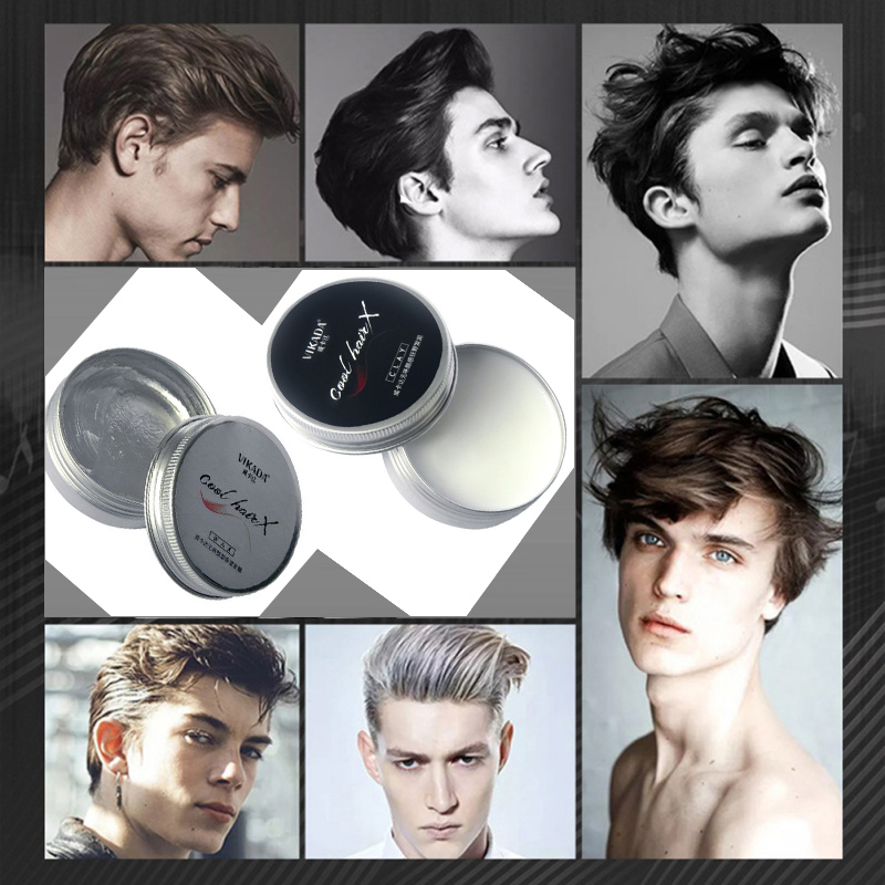 Modern Fashion Men Original Clay Hair Wax Styling Hair High Hold Low Shine Clay Hair Long Lasting Styling Waxes Dry Stereotypes