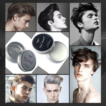 Nowoczesne moda mężczyźni oryginalny gliny wosk do włosów stylizacja włosów High Hold niskiej połysk gliny włosy długie trwały stylizacji woski suche stereotypy tanie i dobre opinie Pomady i woski SC0380 hair wax