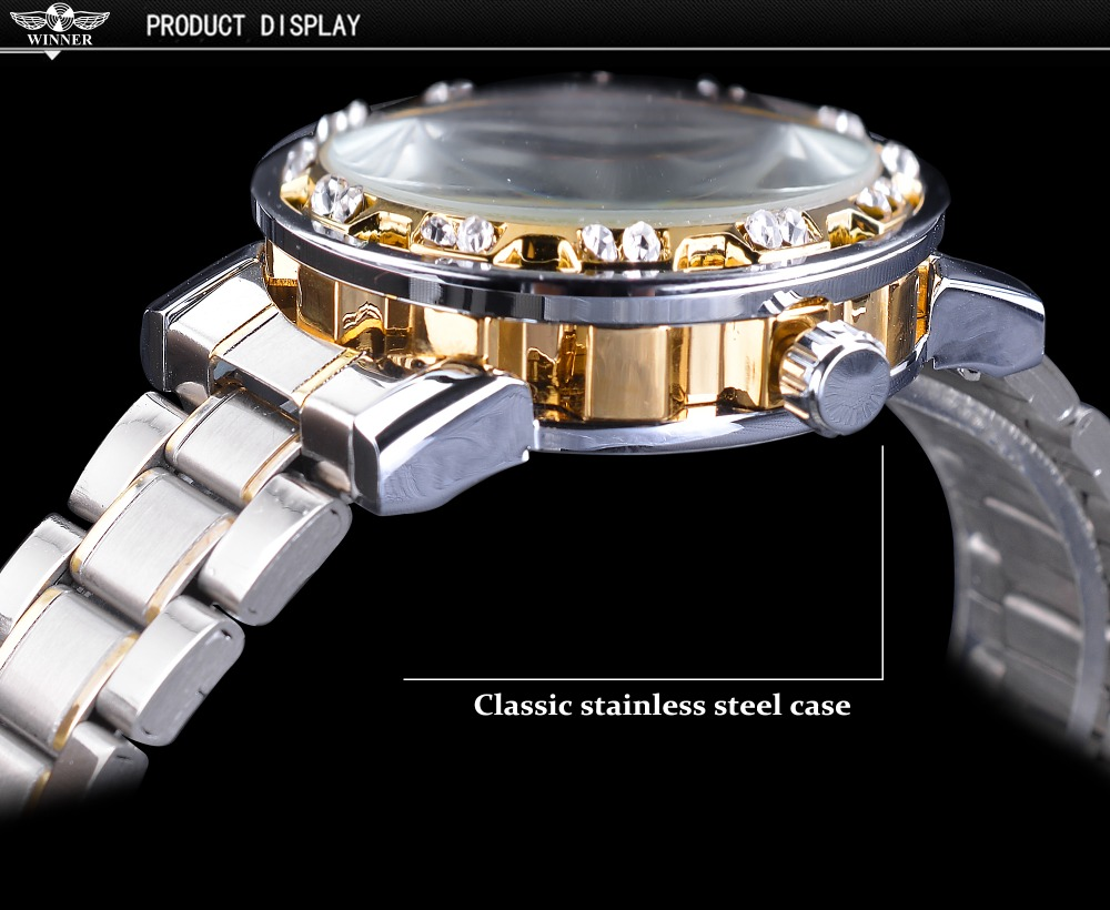 HTB178zTainrK1Rjy1Xcq6yeDVXaL Winner Transparent Fashion Diamond Luminous Gear Movement Royal Design Men Top Brand Luxury Male Mechanical Skeleton Wrist Watch