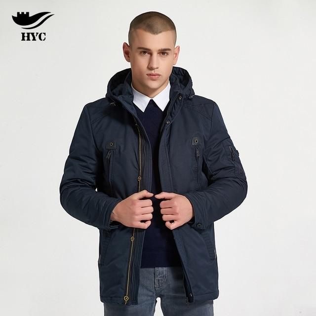 Хай Ю Cheng куртка зимняя мужская мотокуртки куртка водонепроницаемые Для мужчин S ветровка осень 2017 ткань хлопок  куртка пальто мужское длинное