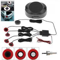 4 sensores de Parking 16,5mm coche Original Sensor aparcamiento plano coche Sensor de aparcamiento con vídeo Radar de marcha atrás sonido de timbre de alarma