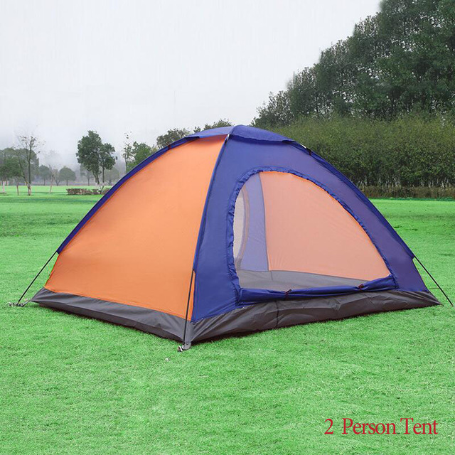 Tourist Tent 2 Person 3 Double Layer Double Door Hiking Folding Fishing Picnic Beach Camping Tents For Outdoor Recreation