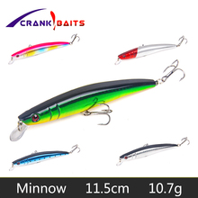 CRANK BAITS Minnow 1Pcs Brand Floating Fishing Lure 11.8cm 10.7g Pesca Hooks Fish Wobbler Tackle Artificial Japan Hard Bait YB34 brand new japan genuine floating joint ja15 6 100