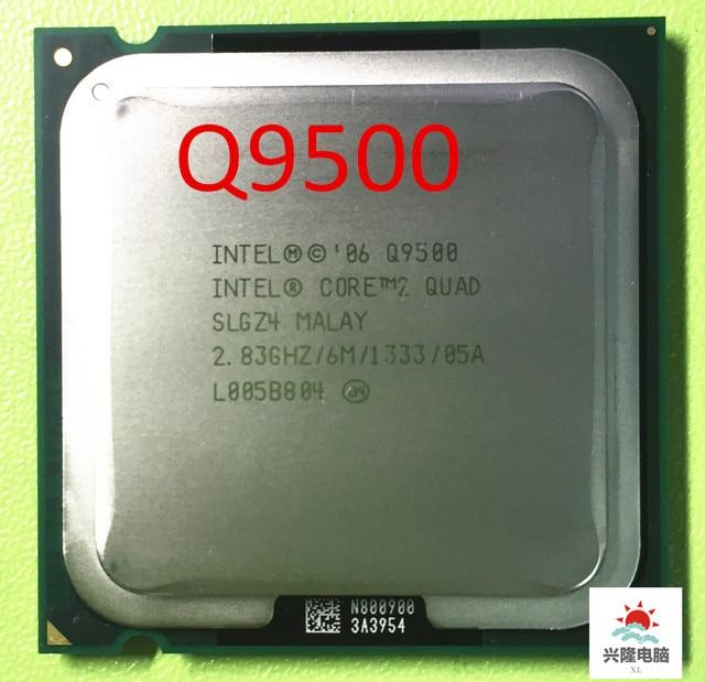 Intel Core 2 Quad Q9500 CPU Prozessor (2,83 Ghz/ 6M /1333GHz) buchse 775 Desktop CPU (arbeits 100% Freies Verschiffen)