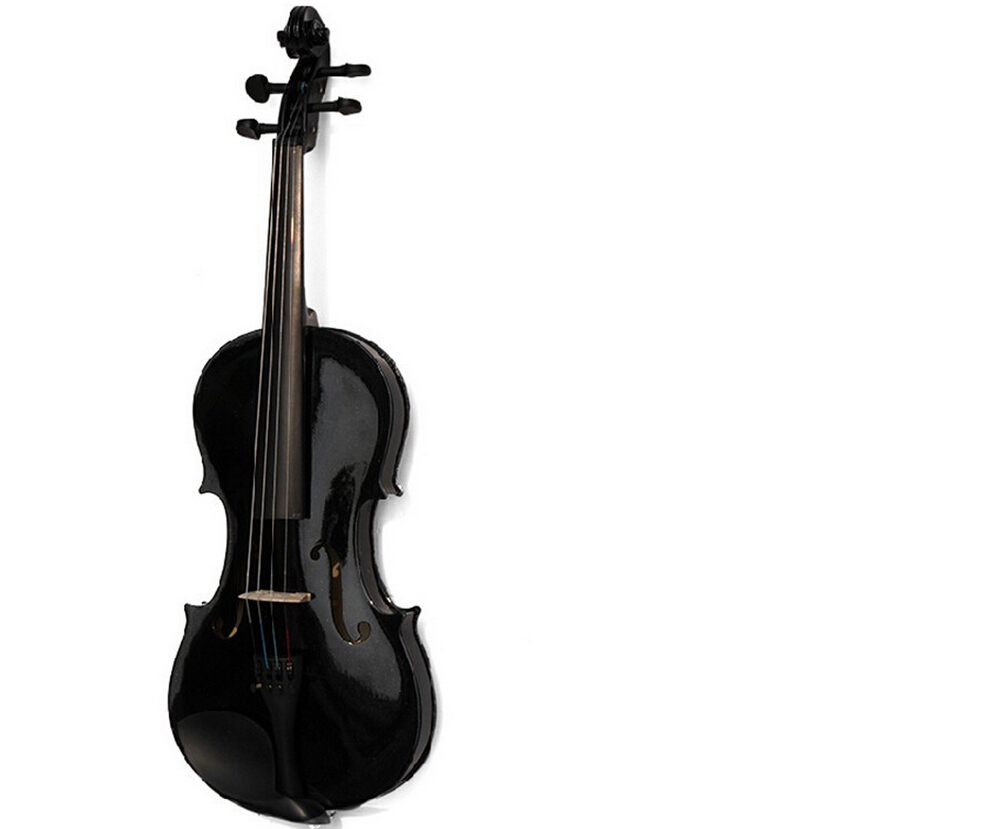 High quality Black Violin Violin 1/4 3/4 4/4 1/2 1/8 Sizes Available Violin in Full Set with Bow, Rosin and Case 1 4