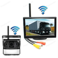 Back up Camera Parking Assistance System For RV Truck Trailer Bus Car Rear View Monitor With IR Night Vision HD 5 inch
