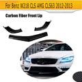 CLS class автомобильный Стайлинг углеродный авто гоночный передний спойлер для Benz W218 CLS AMG CLS63 2012-2013