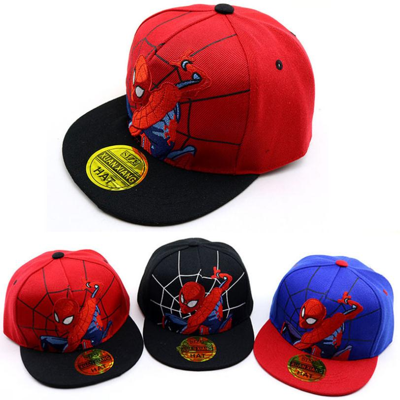 Doitbest 2 to 8 Years 2019 Child   Baseball     Cap   Hip Hop Spring Cartoon spiderman kids Sun Hat Boys Girls   Caps   snapback hats