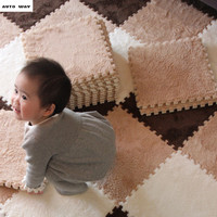 Bedroom Children Stitching Carpet Plush Floor Mat Tatami Puzzle Foam Mats Living Room Bay Window Child