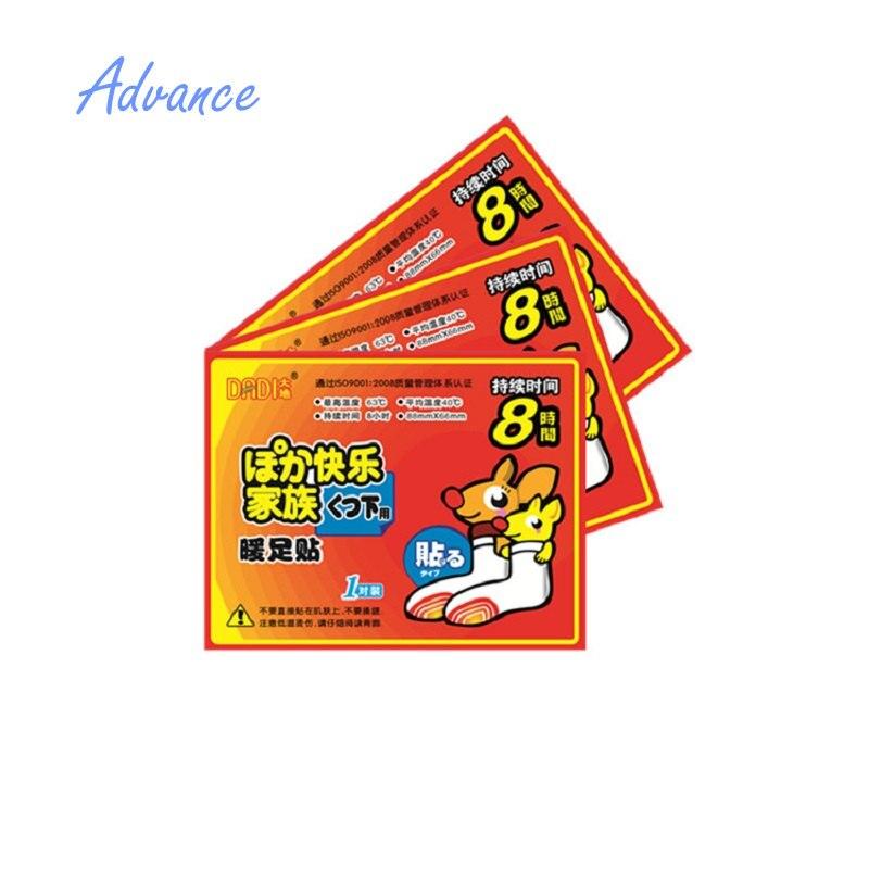 Mooi 20/pcs Warmer Sticker Voor Voet 6-8 Uur Winter Gebruik Huid Oppervlak Pad Maat 9x7 Cm Langdurige Patch Hand Voeten Been Arm Backshouder Wees Vriendelijk In Gebruik