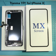 AAA+ Tianma Display for iPhone X Display and Digitizer Touch Screen Assembly with 3D Touch + Frame for iPhone X Full LCD Display