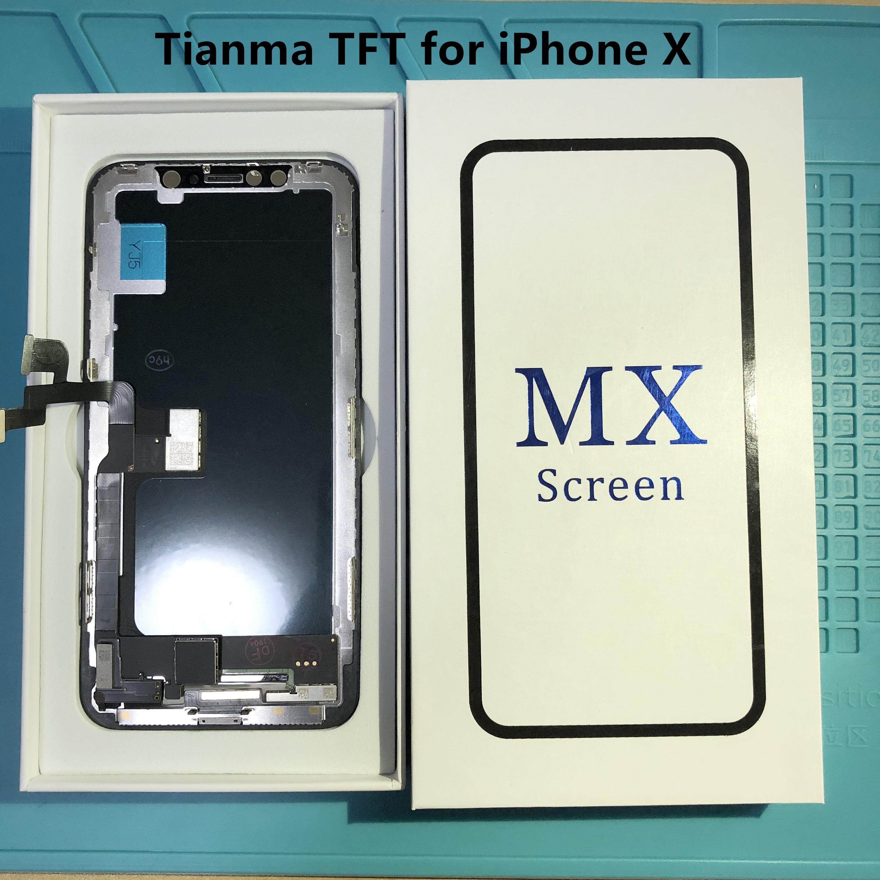Affichage AAA + Tianma pour l'affichage iPhone X et l'assemblage d'écran tactile numériseur avec 3D tactile + cadre pour iPhone X écran LCD complet