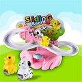Eletrônico placa Deslizante de Plástico Do Miúdo Da Criança Do Bebê para a Educação Infantil Brinquedos de Inteligência Presente Pato Animal Cão brinquedos Subir Escadas