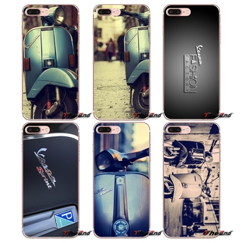 For Samsung Galaxy S3 S4 S5 MINI S6 S7 edge S8 Plus Note 2 3 4 5 Grand Core Prime Blue Vespa 7 Italian pedal motorcycle Case