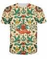 2015 Chegam Novas Roupas Da Moda Unissex Mulheres Homens T-Shirt Do Tatuagem tatuagens Ousadas tradicional t shirt tees Tops Plus Size