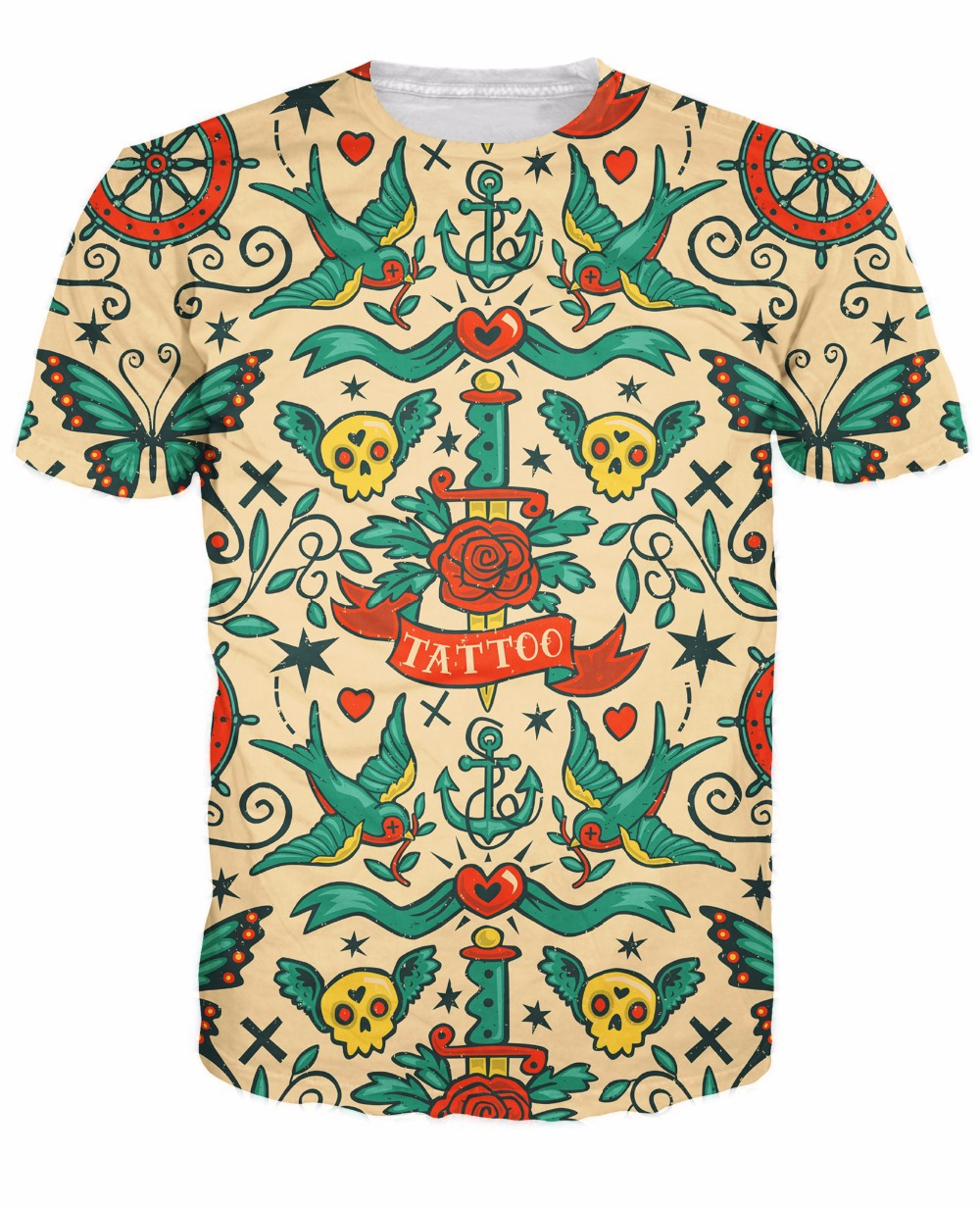 Online buy wholesale traditional tattoo sleeve from china for Tattoo t shirts wholesale