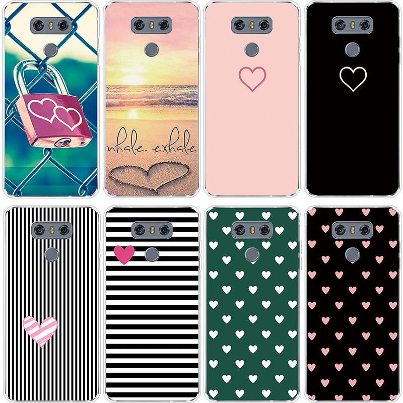 Heart Lover Luxury Capa For Fundas LG G6 Case Soft TPU Silicone Cover For LG G6 5.7 Inch Case Coque Capa Special Patterned Gifts
