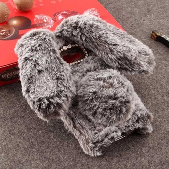 New Cute Luxury Bling Warm Soft Rabbit Hair Phone Case for Samsung Galaxy A3 2017 Fur Ball Cover Protective Phone Back Housing iPhone XS