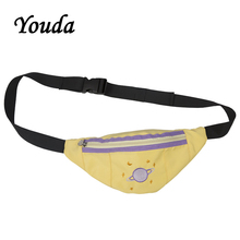 Youda New Original Design Elegant Ladies Chest Bags Cartoon Embroidery Women Pockets Cute Girl Messenger Bag Mobile Phone Pouch