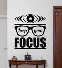 Houd uw focus muurtattoo poster kantoor citaat workstation inspirational gift vinyl sticker thuis commerciële decoratie 2BG8