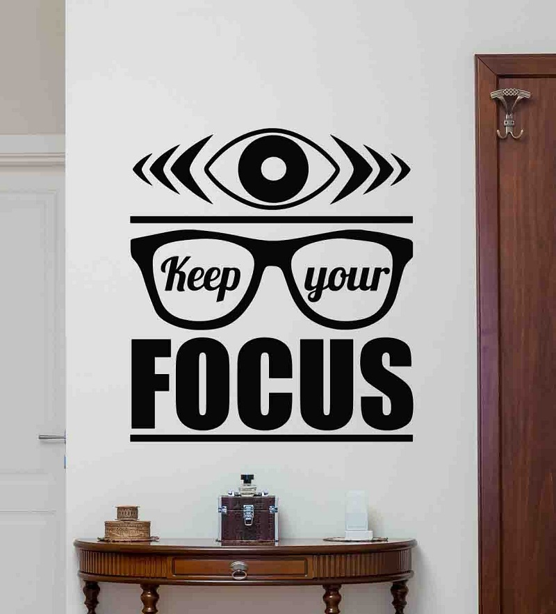 Keep your focus wall decal poster office quote workstation inspirational gift vinyl sticker home commercial decoration 2BG8-in Wall Stickers from Home & Garden