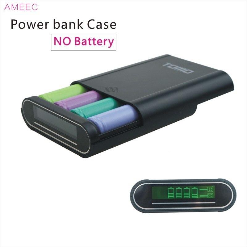 Tomo t4 18650 caja de batería de la energía bank cargador de 2 puertos usb 5V2A