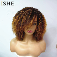 250% Density Afro Kinky Curly Ombre 1b 30 13x6 Lace Front Human Hair Wigs Pre Plucked Lace Frontal Wig For Women Remy Black Hair