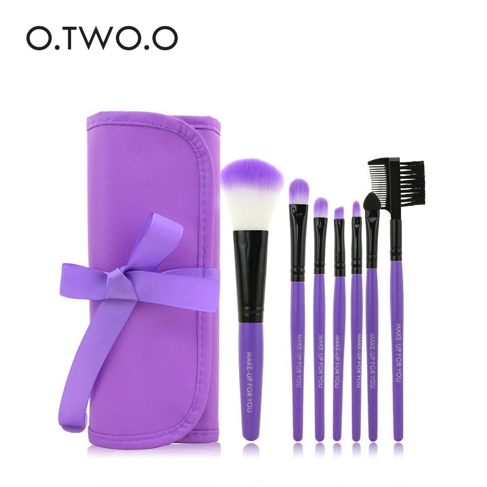 O.TWO.O 7pcs/lot Brushes Set Make Up Brushes Cosmetics Brush Set Beauty Eye Primer Powder Blush Brush With Package