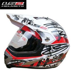 LS2 MX433 moto rcycle helm mit winddicht schild voller gesicht moto cross helm atv dirtbike racing mann frau LS2 moto helme